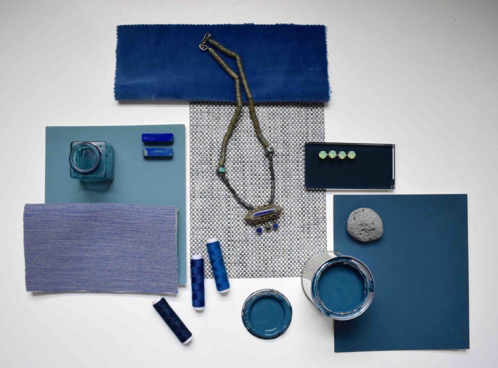 Blue Bedroom design Moodboard