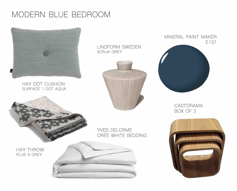 Modern Blue Bedroom design